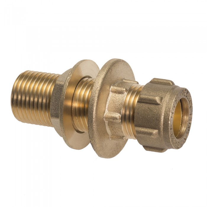 Extended Male Straight Connector With Back Nut