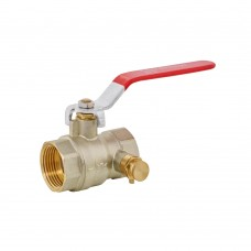 Ball Valve FxF - Lever Handle With Drain Off