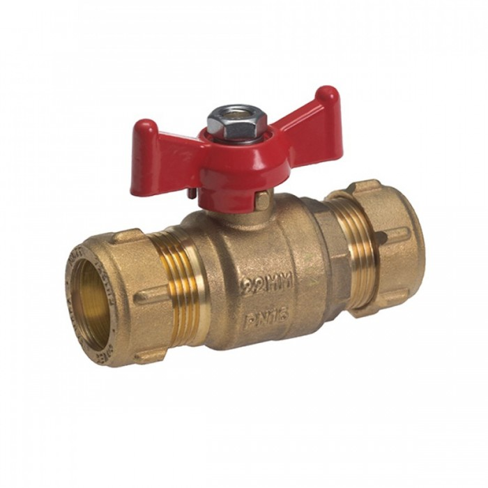 Lever Ball Valve With Red Tee Handle