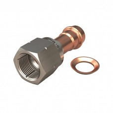 SAE Stainless Flare - Stainless Nut - Copper Washer