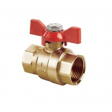 Quarter Turn Ball Valve FXF Red Tee (PN25)