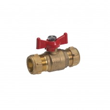 Lever Ball Valve with Red T Handle
