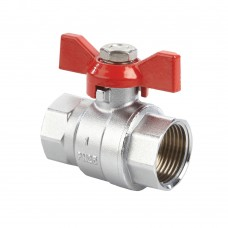 Quarter Turn Ball Valves FxF Short Series Red Tee (PN25)