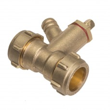 Straight Coupler With Drain Tap